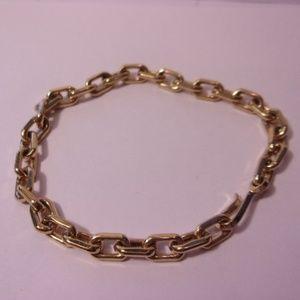 "Avon Men's Gold Tone Link Bracelet 9"" Long"